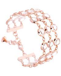 Ted Baker | Pink Gevah Crystal Row Bracelet | Lyst