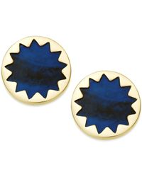 House of Harlow 1960 | Gold-tone Blue Sunburst Button Earrings | Lyst