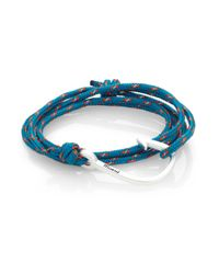 Miansai | Metallic Hook Rope Wrap Bracelet/silvertone for Men | Lyst