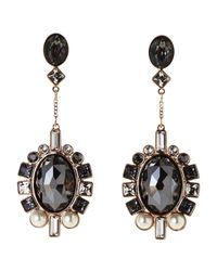 Swarovski | Black Rose Gold-Tone Ven Earrings | Lyst