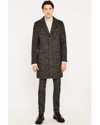SELECTED | Black Naples Coat for Men | Lyst
