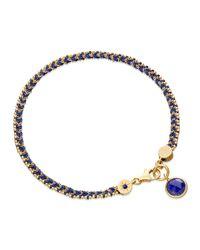 Astley Clarke Blue Jean Genie Bracelet With Lapis Charm