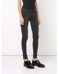 FRAME - Black Le Skinny De Jeanne Fray Jeans - Lyst