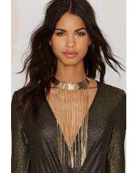 Nasty Gal | Metallic Chain Hang Gold Collar | Lyst