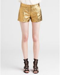 Lanvin | Metallic Shorts | Lyst