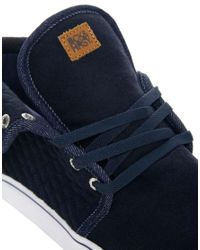 Beck & Hersey   Blue Midtop Quilt Trainers for Men   Lyst