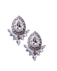 AKIRA Metallic Crystal Bud Earrings