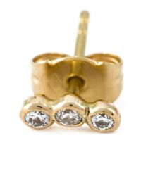 Wouters & Hendrix | Metallic Triple Diamond Stud Earring | Lyst