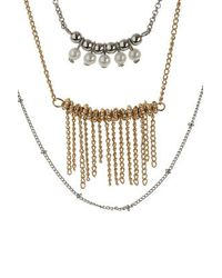 TOPSHOP | Natural Pearl And Tassel Long Necklace | Lyst