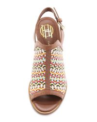 House of Harlow 1960 - Multicolor Teagan Slingback Sandals - Cuoio Multi - Lyst
