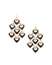 Trina Turk | Black Chandelier Earring | Lyst