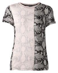Proenza Schouler Natural Snakeskin Print T-shirt
