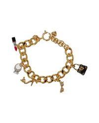 Juicy Couture | Metallic Charm Gifting Glamour Girl Charm Bracelet | Lyst