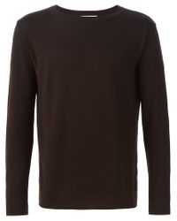 Societe Anonyme - Brown Crew Neck Sweater for Men - Lyst