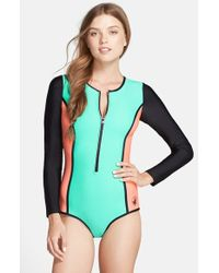 Body Glove Green 'neo What - Paddle' One-piece Swimsuit