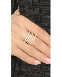Noir Jewelry - Metallic Audley Stackable Hinge Ring - Gold/clear - Lyst