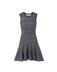 Rebecca Taylor | Gray Sleeveless Lace Bonded Dress | Lyst