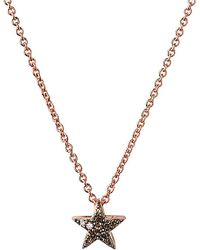 Links of London   Pink Diamond Essentials 18ct Rose Gold-vermeil And Diamond Necklace - For Women   Lyst
