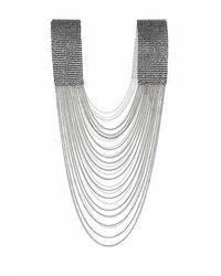 TOPSHOP - Metallic Rhinestone Body Chain - Lyst