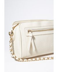 Forever 21 - Natural Chained Faux Leather Crossbody - Lyst