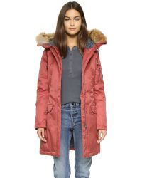 Spiewak | Red Aviation Parka - Total Eclipse | Lyst