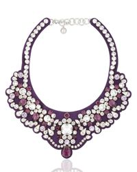 Shourouk | Legend Purple Necklace | Lyst