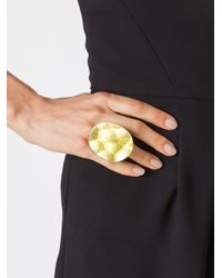 Monies | Black Round Facet Ring | Lyst