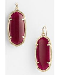 Kendra Scott - Purple 'elle' Drop Earrings - Maroon Jade - Lyst