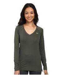 Under Armour - Green Ua Heatgear® Ua Armour Mesh Solid Long Sleeve - Lyst