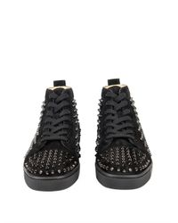 Christian Louboutin Black Louis Spikes High-top Trainers for men