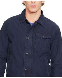 Polo Ralph Lauren - Blue Twill Deck Jacket for Men - Lyst
