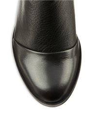 Kenneth Cole | Black Natalie Leather Ankle Boots | Lyst