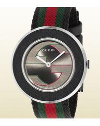 Gucci | Green U-play Collection Medium Signature Web Watch | Lyst