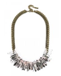 BaubleBar | Metallic Pink Lady Collar | Lyst