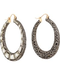 Munnu | Gray Diamond Indo Russian Jali Hoops | Lyst