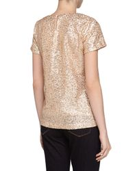 French Connection | Metallic Cupid Mini Sequins Tee | Lyst
