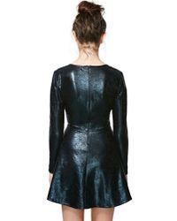 Nasty Gal - Black Slick Streets Dress - Lyst