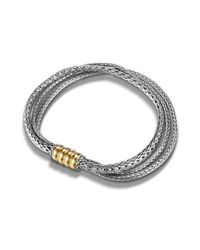 John Hardy - Metallic Three Row Bracelet - Lyst
