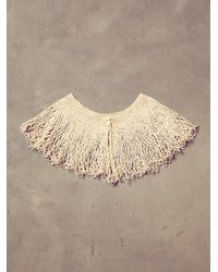 Free People - Natural Vintage Cream Crochet Collar - Lyst