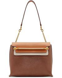 Chloé - Brown Leather Medium Clare Bag - Lyst