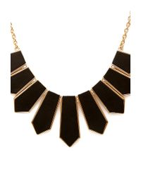 Forever 21 | Black Matte Faux Leather Necklace | Lyst