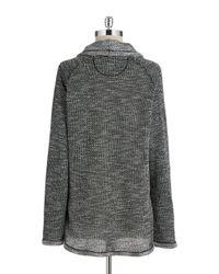 Calvin Klein   Black Funnel Neck Sweatshirt   Lyst