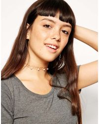 ASOS | Pink Tattoo Choker Necklace With Faux Pearls | Lyst