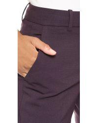Theory Purple Louise Urban Trousers - Dark Merlot