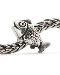 Trollbeads - Metallic Jewel Fairy Basslet Sterling Silver Charm Bead - Lyst