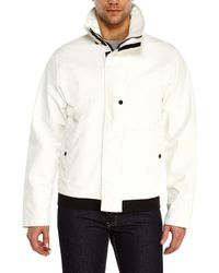 Stone Island - White Stand Collar Jacket for Men - Lyst