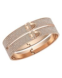 Swarovski | Pink Distinct Bangle | Lyst