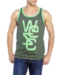 Wesc | Green Overlay Classic Tank for Men | Lyst