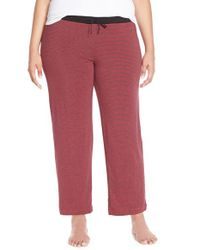 DKNY | Red Jersey Lounge Pants | Lyst