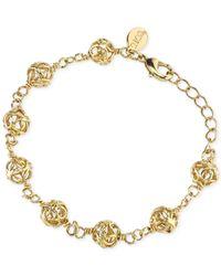 2028 - Metallic Gold-tone Filigree Bracelet - Lyst